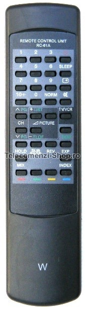 Telecomanda RC61A, cod 357, Akai, model CT2005, inlocuitor, Replacement Akai