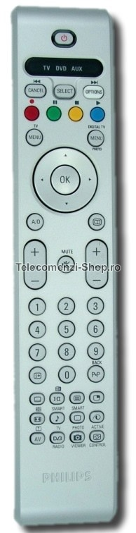 Telecomanda Philips, RC4347 01, LCD Philips, model 32PF7521D10, cod 748, inlocuitor
