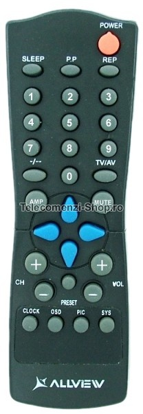 Telecomanda Allview, model TA5508SF, TV Allview, cod 1107