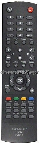 Telecomanda Sharp, LCD, GJ210, model LC32S7E, cod 1408, Remote GJ 210