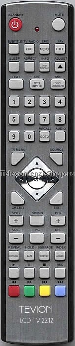 Telecomanda LCD, TV, Tevion, model TV 2212, cod 1717