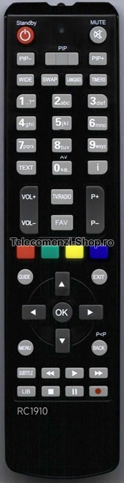 Telecomanda RC2910, Orion, LCD TV, chassis 17MB35