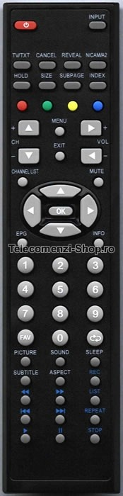 Telecomanda  XM-LED1562, Xomax, LCD TV, LED, Remote control, cod 1801